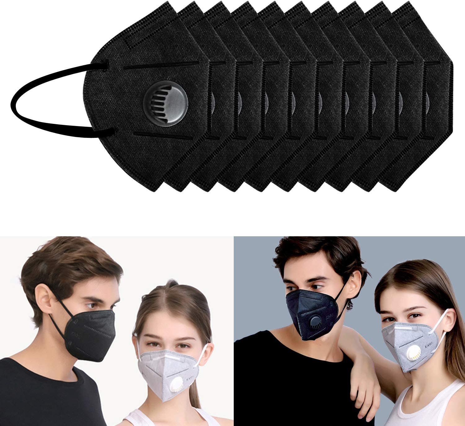 N95 Particulate Respirator Mask Dust Gas Safety Masks Half Face 20pcs//Box
