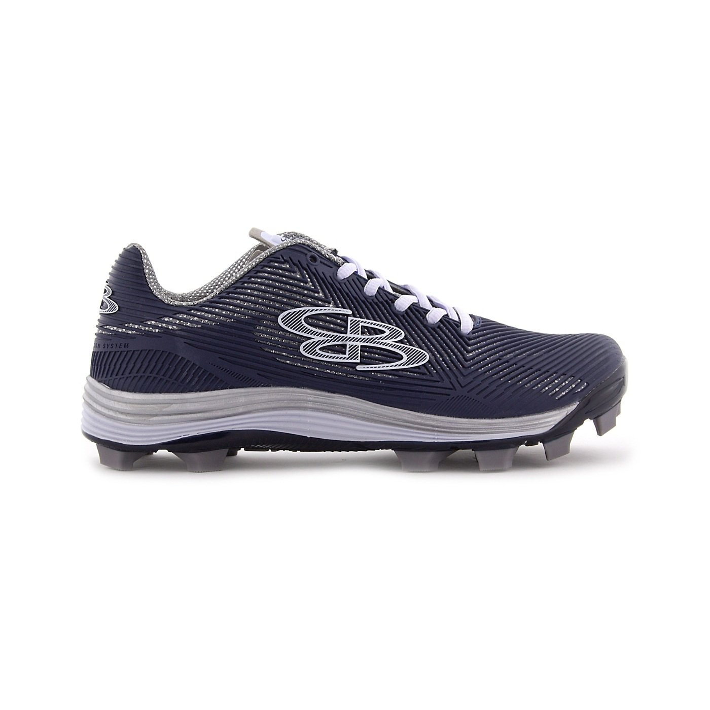 Boombah Women's Spotlight Molded Cleat Navy/Gray - Size 8 by Boombah