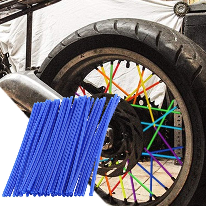 cubiertas de motocross Keenso Skins Off Road Guard Wraps Kit Cubiertas de motocicleta Protector 36 piezas Cubiertas de cubiertas de radios de llanta de rueda Amarillo