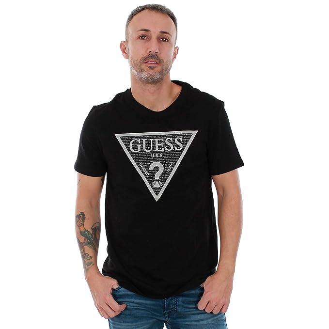 GUESS Camiseta Hombre Negro M83I03I3Z00 - JBLK: Amazon.es: Ropa y accesorios