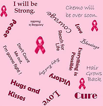 Amazon Com Cancer Fabric Breast Cancer Fabric Words Of