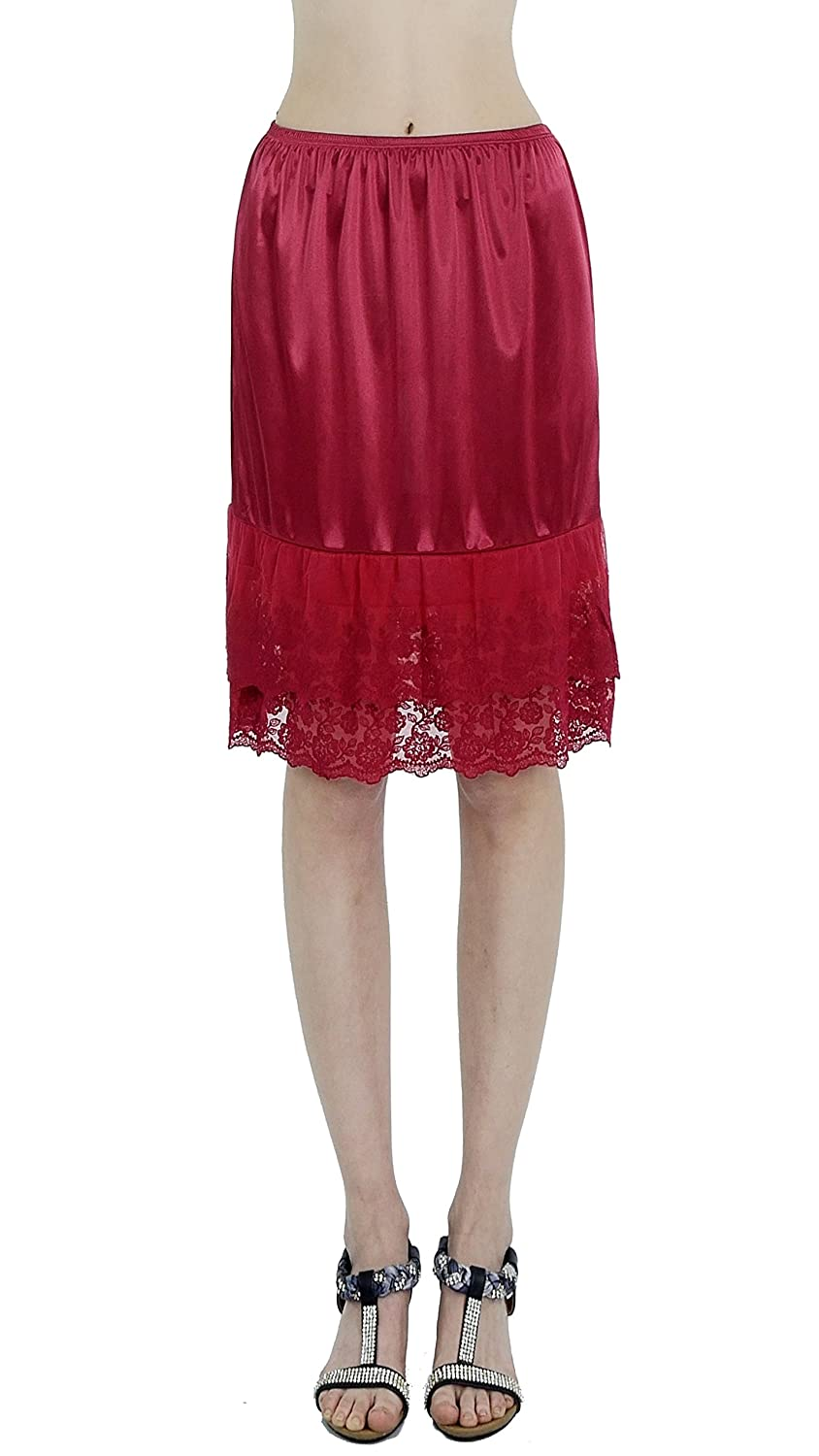 Melody Double Lace Half Slip Satin Skirt Extender- 21