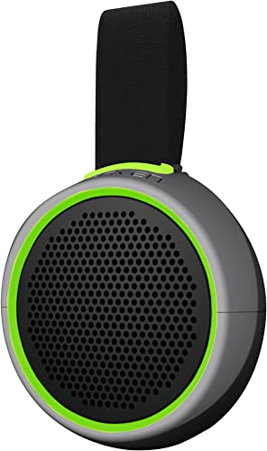 Braven 105 Wireless Portable Bluetooth Speaker Waterproof Outdoor 8 Hour Playtime with Action Mount Stand – Silver Green