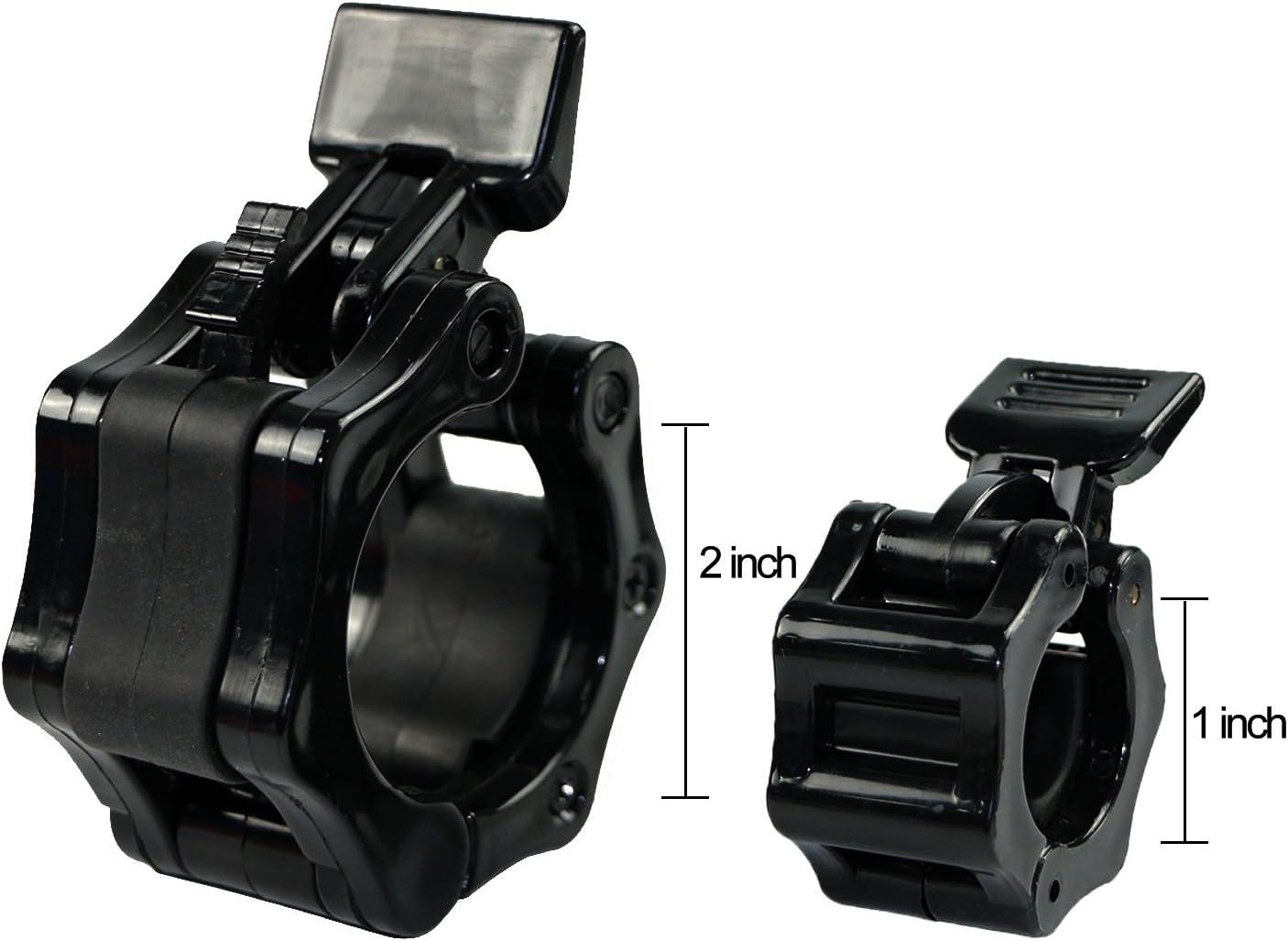5,1 cm//50 mm standard bilancieri ideale per allenamenti crossfit Deadlifts e Bench Press Dia 50mm Bilanciere olimpico di bloccaggio morsetto collare clip vestito per diametro 2,5 cm//25 mm Overhead Press