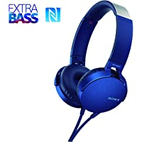 Headphone com Extra Bass, Sony XB550AP, Azul, Médio