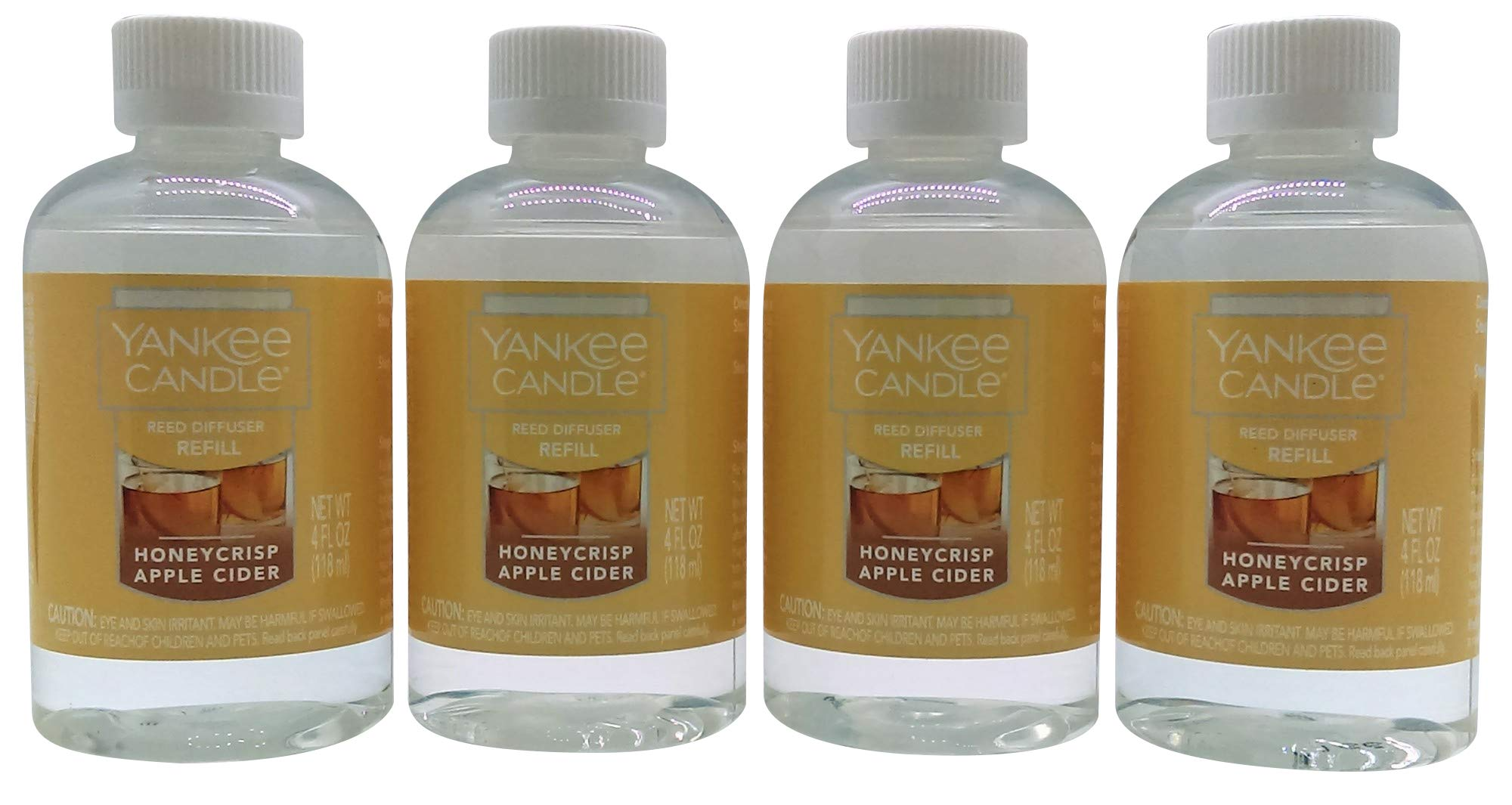 Yankee Candle Honeycrisp Apple Cider Reed Diffuser Refill Oil 4-Pack by Yankee Candle