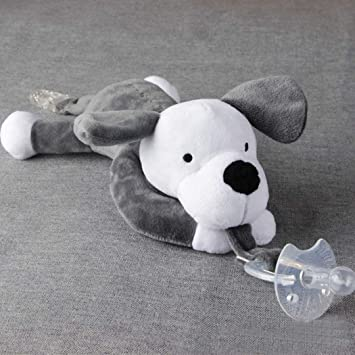 1Pc Infant Kid Baby Pacifier Clip Plush Cartoon Animal Toy Soother Nipple Holder