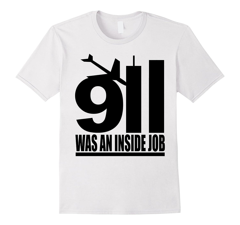 9/11 was an inside job black style T Shirt-TH