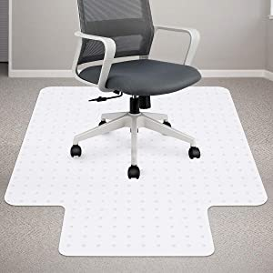 Chair Mat for Carpeted Floor, 36 x 48 inches, Premium Material Chair Mat with Lip, Easy Glide Transparent Mats for Chairs, Good for Desks, Floor Mats for Office