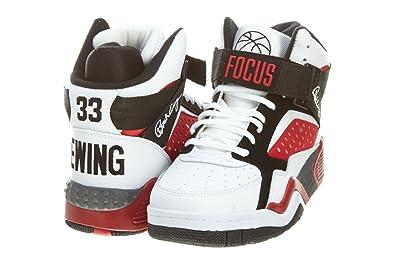 9328ea95bf2 Patrick ewing focus chaussures mode sneakers cuir blanc noir rouge  basketball Patrick Ewing T 46