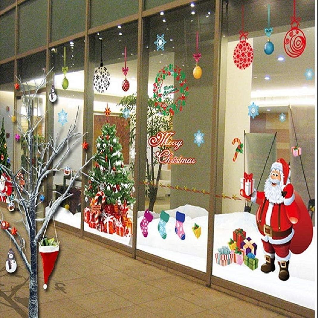Yusongirl DIY Christmas Windows Stickers
