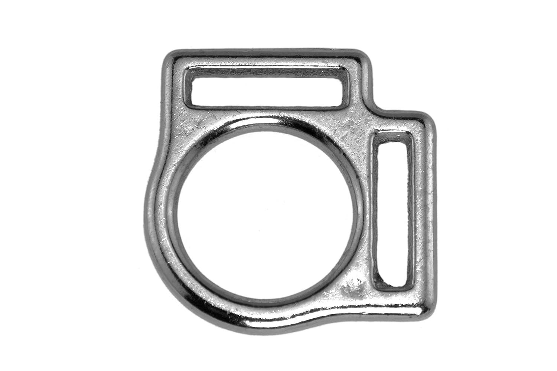 vernickelt Gr/ö/ße: 13 mm zweifach 1//2 LENNIE 2X Halfterring Silber Messing
