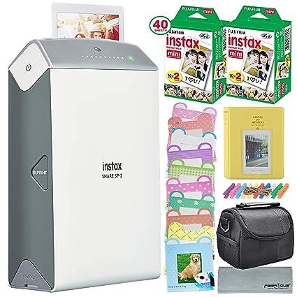Fujifilm Instax Share Smartphone impresora SP-2 W (plata)/40 hojas ...