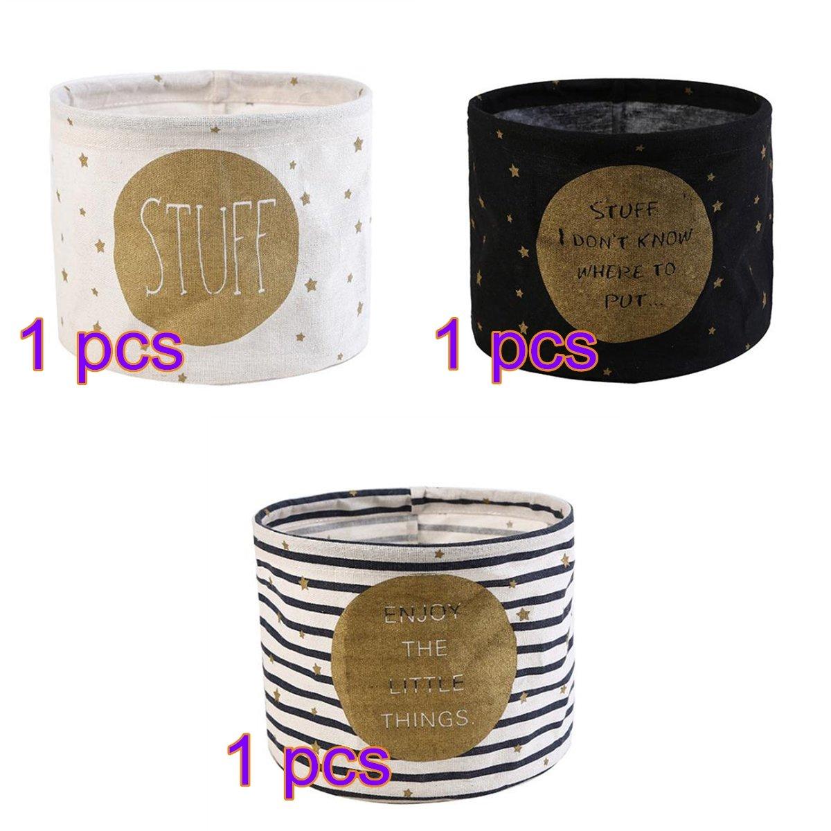 Doitsa 3 Stü ck Aufbewahrungskorb aus Stoff Kosmetik Organizer Stoffbox fü r Wä sche, Windeln, Tü cher, Accessoires etc