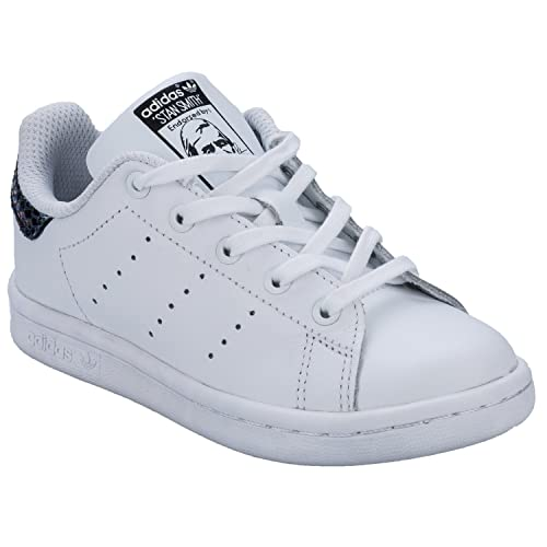 hot sale online 258d7 a689e adidas Girls Originals Stan Smith Snake Trainers White-Lace ...