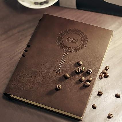 Libreta, Cobiz Agenda 2019 Cuaderno viaje A5 Rayas, Diario de cuero con tapa blanda y lazo para bolígrafo,Incluye horario de viaje y horario de ...