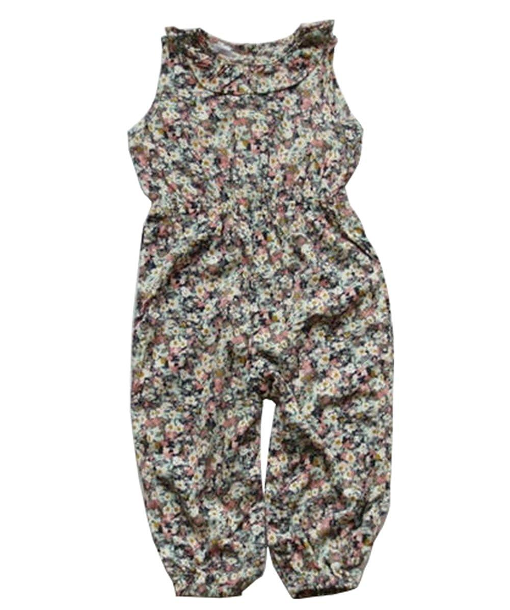 Infant Baby Girls Romper Floral One Piece Jumpsuit
