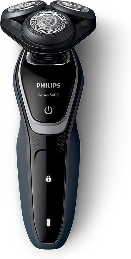 Philips Serie 5000 S5110/06 - Afeitadora eléctrica para hombre rotativa, perfilador patillas, color negro: Philips: Amazon.es: Salud y cuidado personal