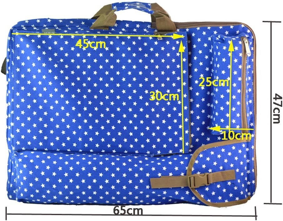 Portfolio Bag Carrying Case Travel Art Supplies Outdoors Canvas Backpack for Artwork Sketch Board Sketch Pad Storage Drawing Board Easel Palette