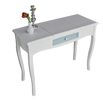 Consolle con cassetti in blu, tavolino in bianco, perfetta per le ...