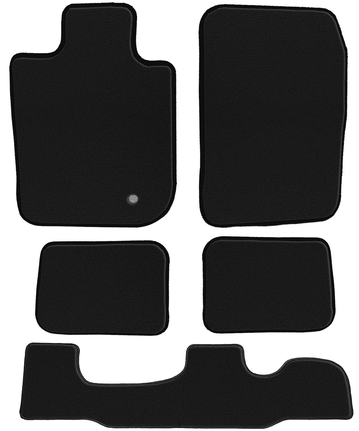 2003 Chrysler Voyager Mini Passenger Van Black Loop Driver GGBAILEY D3670A-LSA-BK-LP Custom Fit Car Mats for 2000 2002 2001 2nd /& 3rd Row 4 Piece Floor