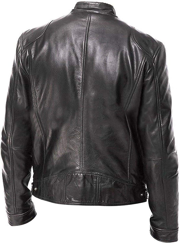 Men Plus Size Black Leather Jacket Leather Shop Vintage Cafe Racer Black Retro Biker Leather Jacket
