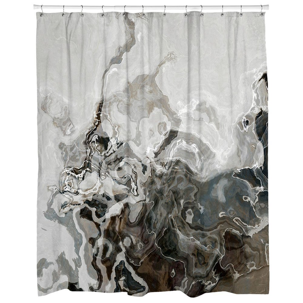 Amazoncom Decorative Contemporary Shower Curtain In Brown And Gray