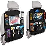 Reserwa Car Backseat Organizer 2 Pack Waterproof and Durable Car Seat Organizer Kick Mats Muti-Pocket Back Seat Storage Bag w
