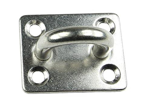 V4A Decksplatte KAMERO 5X Edelstahl Augplatte D4 30x25mm