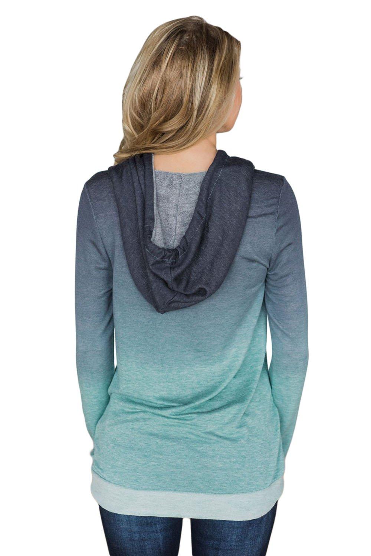 Minipeach Women's Pullover Long Sleeve Hoodies Coat Loose Casual Sweatshirts with Pocket by Minipeach (Image #2)
