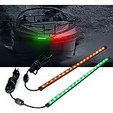"Xprite 12"" LED Red Green Boat Bow Navigation Light for Marine Boat Vessel"
