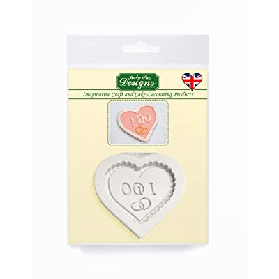 I Do Heart Plaque Silicone Mold for Cake Decorating, Cupcakes, Sugarcraft, Candies, Crafts and Clay, Food Safe: Grocery & Gourmet Food