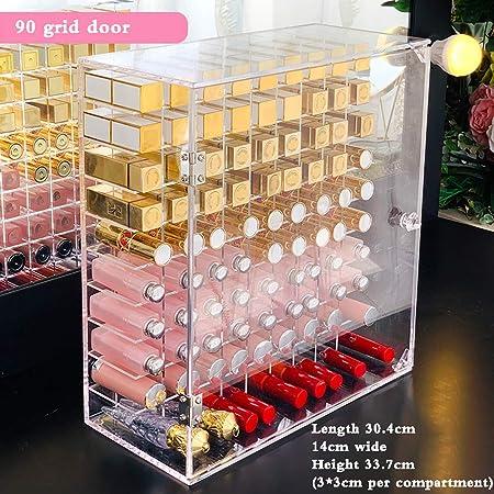 ZHXY Caja de pintalabios Expositor de pintalabios Organizador de Maquillaje acrílico Transparente la Joyería Soporte Exhibición Cosmético Brochas de Maquillaje,L ápices Labiales Cristal apilable: Amazon.es: Hogar
