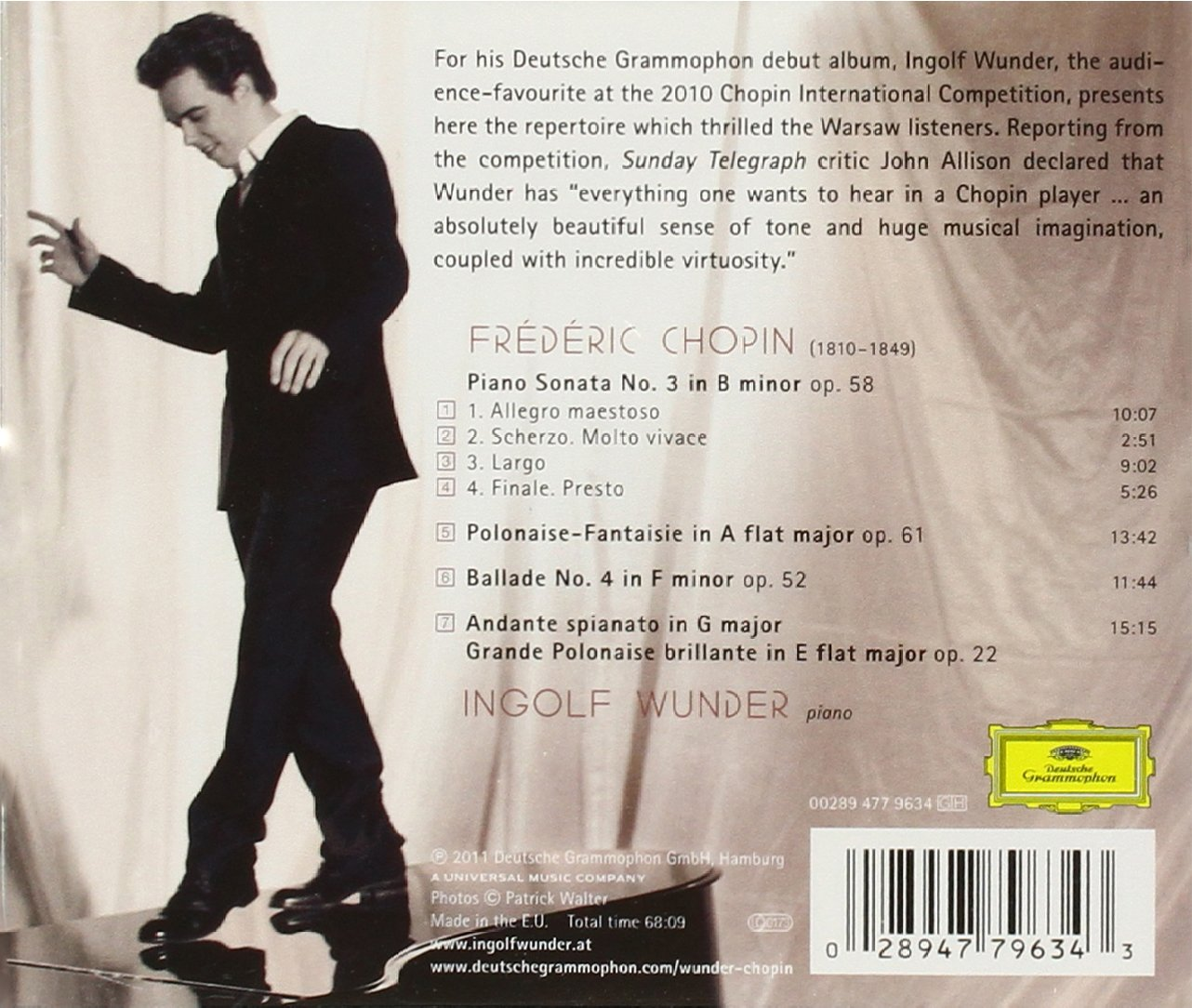 Chopin: Piano Sonata No. 3 / Polonaise No. 7 / Ballade No. 4, etc., Opp. 22, 52, 58, 61 by DEUTSCHE GRAMMOPHON,ROMANTICO,SOLO,MUSICA DA CAMERA,