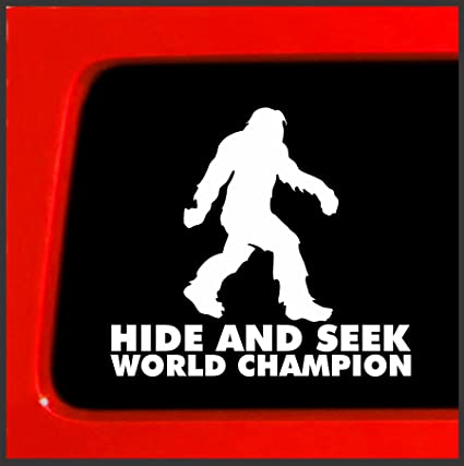 95becbd2 Amazon.com: Bigfoot Hide and Seek World Champion Vinyl Decal Sticker die  cut vinyl decal sasquatch believe funny car: Automotive