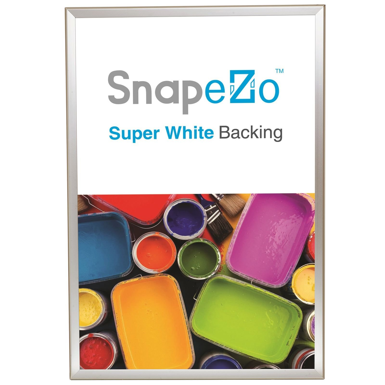 Poster Frame 36x48 Inches, Cream SnapeZo 1.7'' Aluminum Profile, Front-Loading Snap Frame, Wall Mounting, Wide Series by SnapeZo