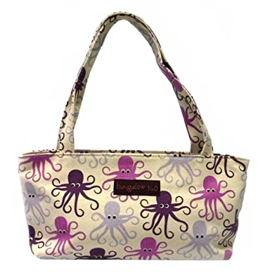 9a4c658455e3 Bungalow360 Vegan Cotton Canvas Mini Bag - Purple Octopus
