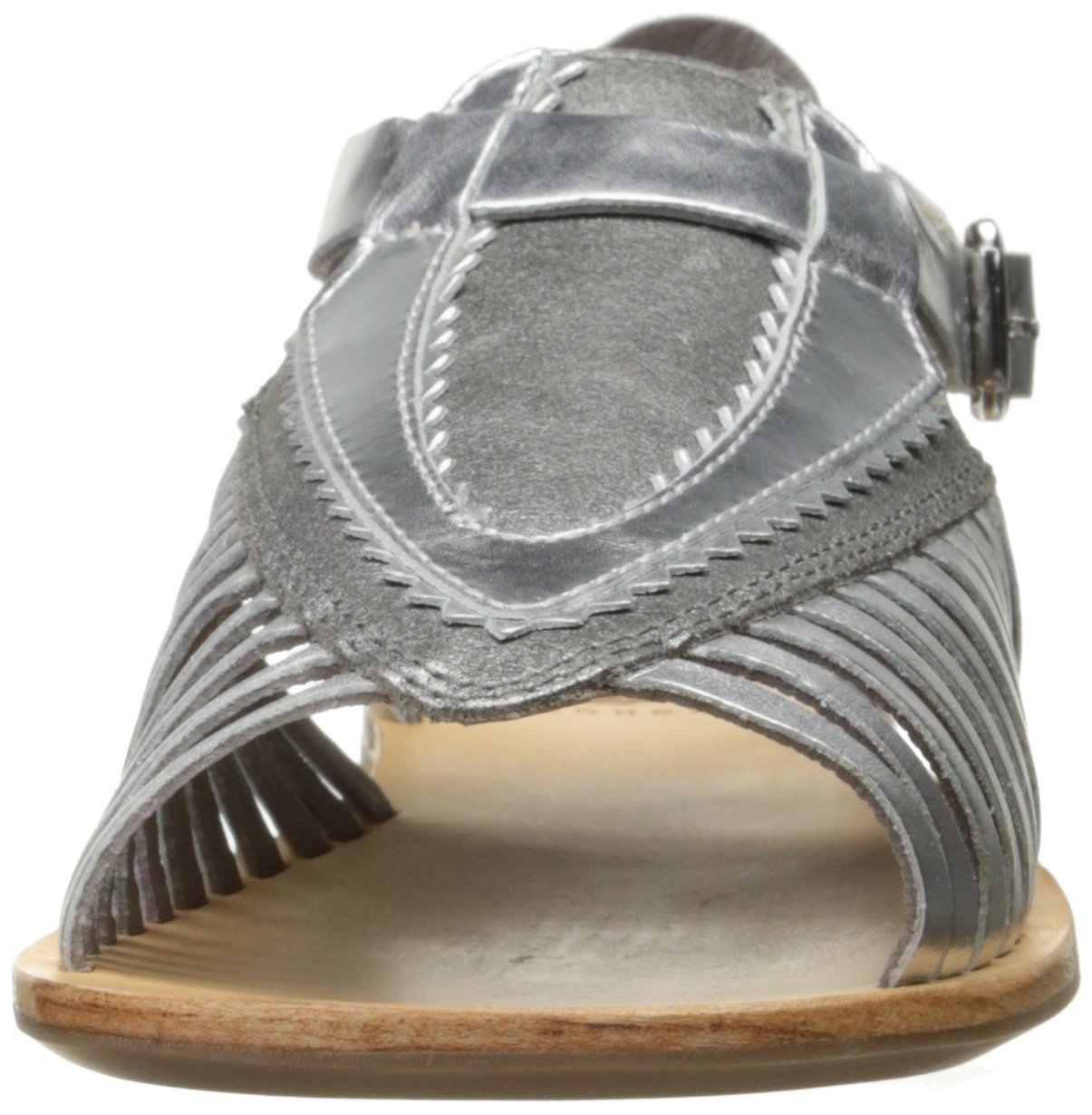 H by Hudson Women's Pansy Multi Flat Sandal B01LYV8YVX 35 M EU / 4 B(M) US Silver
