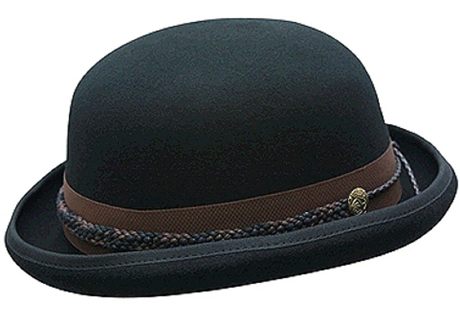 Conner Hats Mens Carson City Wool Bowler Hat