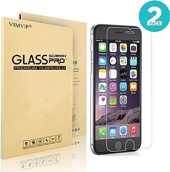 2-Pack) iPhone 6s Protector de pantalla, vimvip [3d Touch Compatibles] Premium – Protector de pantalla de cristal templado para Apple iPhone 6 y iPhone 6s Plus 5.5: Amazon.es: Electrónica