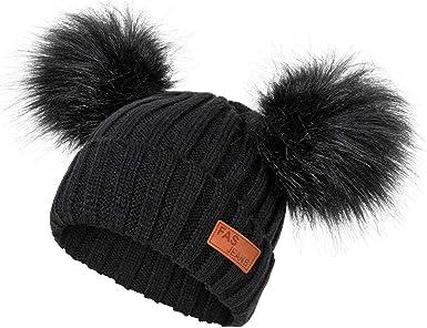 Dark Area Baby Strickmütze Kappe Winter Warme Wolle Säuglingskleinkind Kinder Häkeln Beanie Kappe Neu Bekleidung