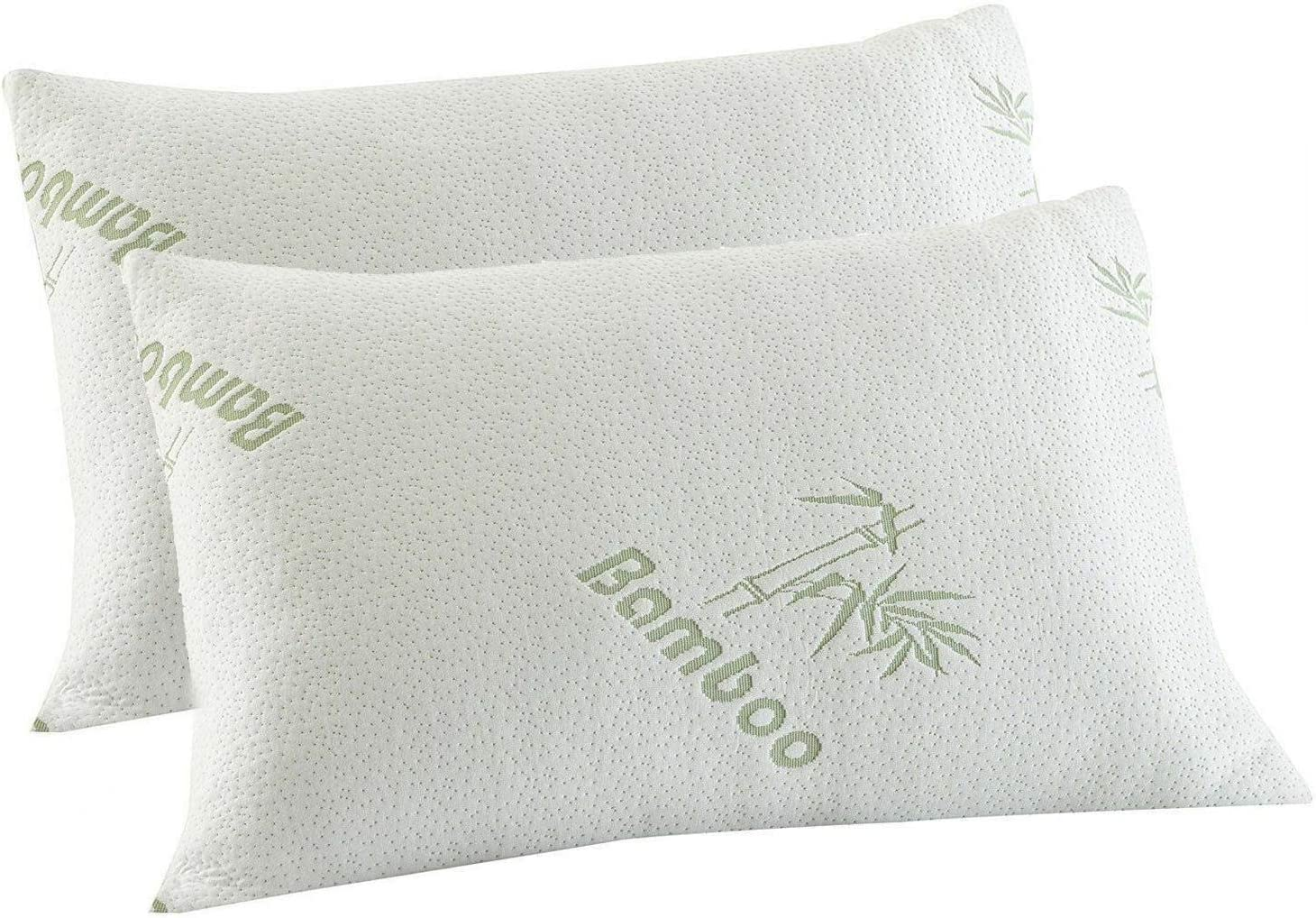 Removable Bamboo Pillowcase Mastery Mart Shredded Memory Foam Pillow Pillow,