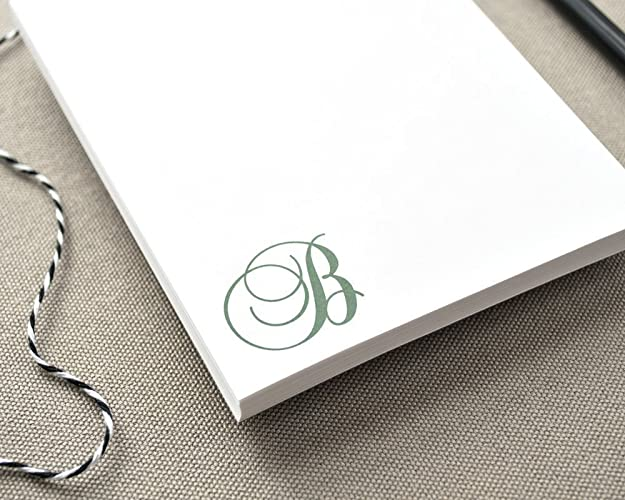 amazon com personalized notepad with initial simple letter monogram