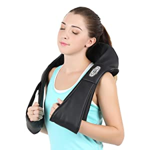 Naipo Shiatsu Kneading Neck Massager Shoulder Massager with Heat