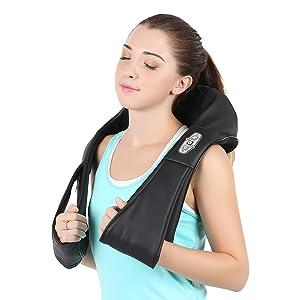 Naipo Shiatsu Kneading Neck Massager Shoulder Massager with Heat
