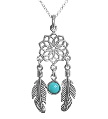 Amazon the best dreamcatcher pendant necklace 925 sterling the best dreamcatcher pendant necklace 925 sterling silver 18 inch necklace with a dreamcatcher with aloadofball Images