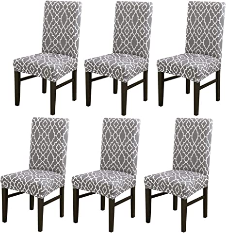 1-6pc Dining Chair Covers Elastic Strench Seat Protective Slipcovers Party Decor
