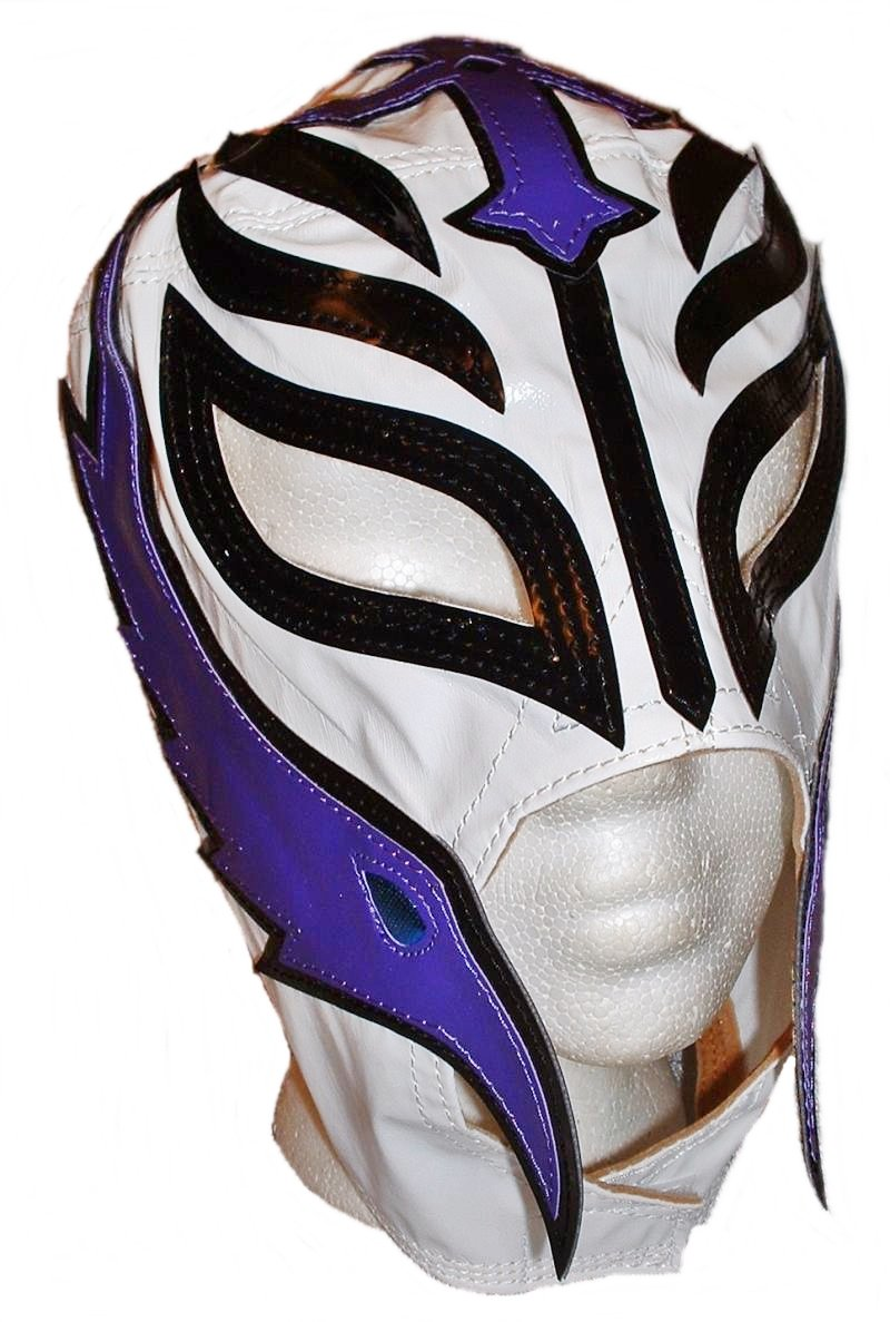 Main Street 24/7 WWE Licensed Rey Mysterio Youths Kid Size White Leather Pro Grade Mask