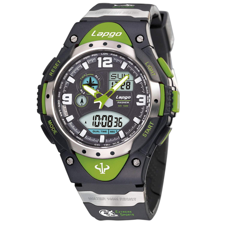 PASNEW Analog Digital Dual Time Watch