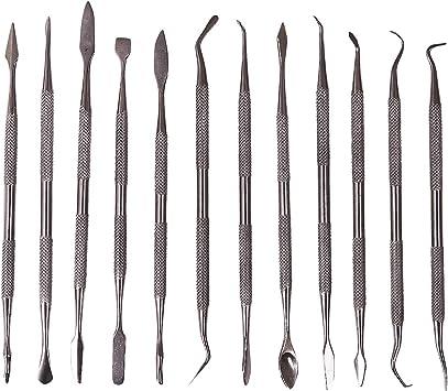 Hrph Herramientas de bricolaje para la arcilla y la cer/Ã/¡mica pluma de la escultura de la textura del cepillo